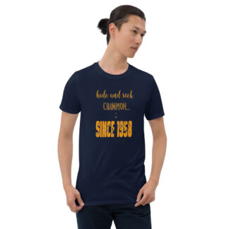 Hide and seek champion ; since 1985 navy t-shirt